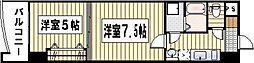 ロイヤル神屋[1404号室]の間取り