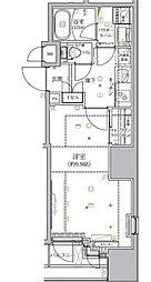 東京メトロ丸ノ内線 淡路町駅 徒歩2分の賃貸マンション 7階1Kの間取り