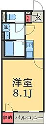 JR総武本線 佐倉駅 徒歩14分の賃貸アパート 2階1Kの間取り