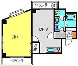 YSフラッツ[4階]の間取り