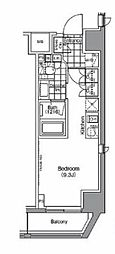 JR総武線 浅草橋駅 徒歩7分の賃貸マンション 4階ワンルームの間取り