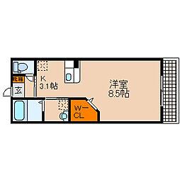 滋賀県長浜市宮司町の賃貸アパートの間取り