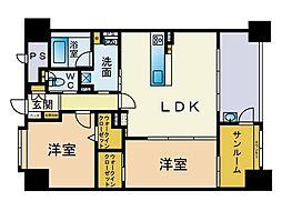 仮)港1丁目新築マンション[1201号室]の間取り