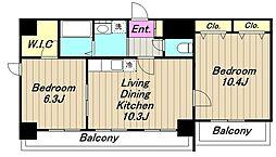 グレイスアベニュー[8階]の間取り