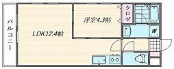 ブランシェ舞松原[2階]の間取り