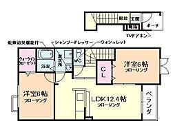 ピープルコートII[2階]の間取り