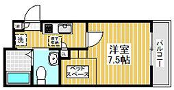 東京都杉並区天沼1丁目の賃貸アパートの間取り