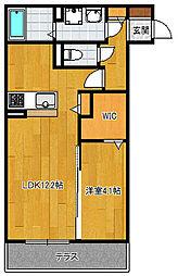 D−room空港南[103号室]の間取り