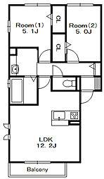 D-room本中山3丁目[1階]の間取り