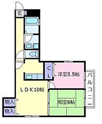 シャーメゾン岡田[2階]の間取り