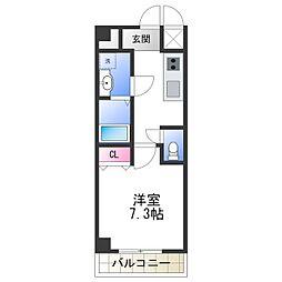 Osaka Metro御堂筋線 動物園前駅 徒歩7分の賃貸マンション 10階1Kの間取り