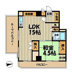 ペルソナージュ横浜[602号室]の間取り