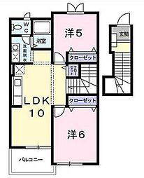 メゾンヌーボー[2階]の間取り