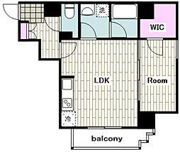 東急東横線 反町駅 徒歩1分の賃貸マンション 4階1LDKの間取り