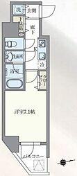 東京メトロ丸ノ内線 本郷三丁目駅 徒歩7分の賃貸マンション 2階1Kの間取り