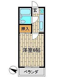 須藤マンション[2階]の間取り
