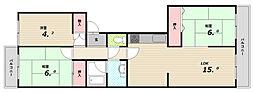 鈴蘭泉台第6ハウス[3階]の間取り