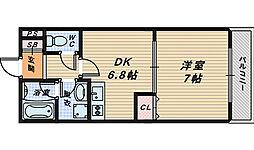 大阪府堺市南区美木多上の賃貸アパートの間取り
