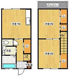 [テラスハウス] 神奈川県川崎市多摩区菅馬場1丁目 の賃貸【/】の間取り