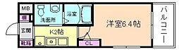 エスリード野田阪神駅前[1階]の間取り