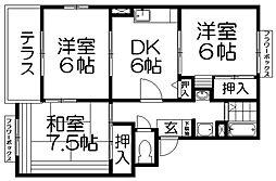 エトワールシャルムI[2階]の間取り