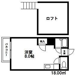 コンパートハウス白木原[105号室]の間取り