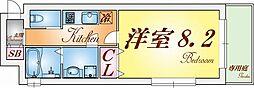 ワコーレヴィア-ノ須磨関守2丁目 1階1Kの間取り