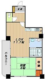 ライオンズマンション明石西新町第2[5階]の間取り