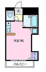 ラ・シャンブル松原[4階]の間取り