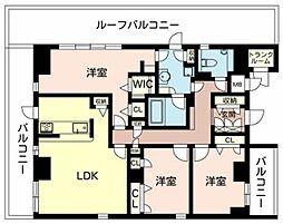 フローラル桃山台[6階]の間取り