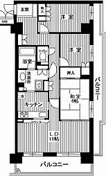 ミサワホームズ東大井 4階3LDKの間取り