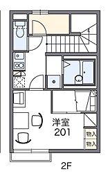 愛知県豊田市美里4丁目の賃貸アパートの間取り