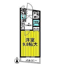 ラガール七隈[207号室]の間取り