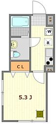 (仮称)大鳥居12世帯アパート 3階1Kの間取り