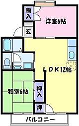 セジュール12[1階]の間取り