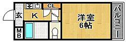 サンスクエアII[204号室]の間取り