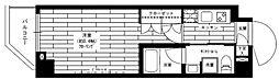 グランドコンシェルジュ赤堤 3階1Kの間取り
