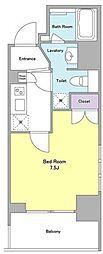 東京メトロ南北線 麻布十番駅 徒歩2分の賃貸マンション 4階1Kの間取り