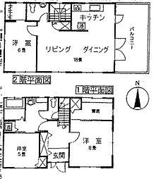 [一戸建] 福岡県福津市宮司2丁目 の賃貸【/】の間取り