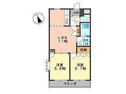 サンフィット[2階]の間取り