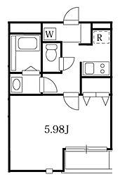 モダンアパートメント武蔵小山 1階1Kの間取り