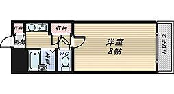 フォンティーヌ三国ヶ丘[4階]の間取り