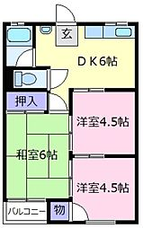 桑田マンション[3階]の間取り