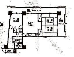 アークハイツ大濠[4階]の間取り