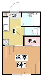 ロジュマン久米川[1階]の間取り