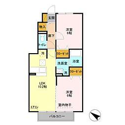 フェリオA棟[1階]の間取り