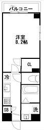 東武野田線 新鎌ヶ谷駅 徒歩5分の賃貸マンション 9階1Kの間取り