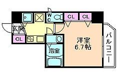 ロイヤルレジデンス梅田FRONT[9階]の間取り