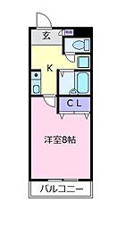 CREST ルート・ワン[3階]の間取り
