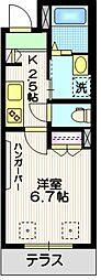 世田谷1丁目メゾン 1階1Kの間取り
